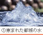 ①恵まれた都城の水